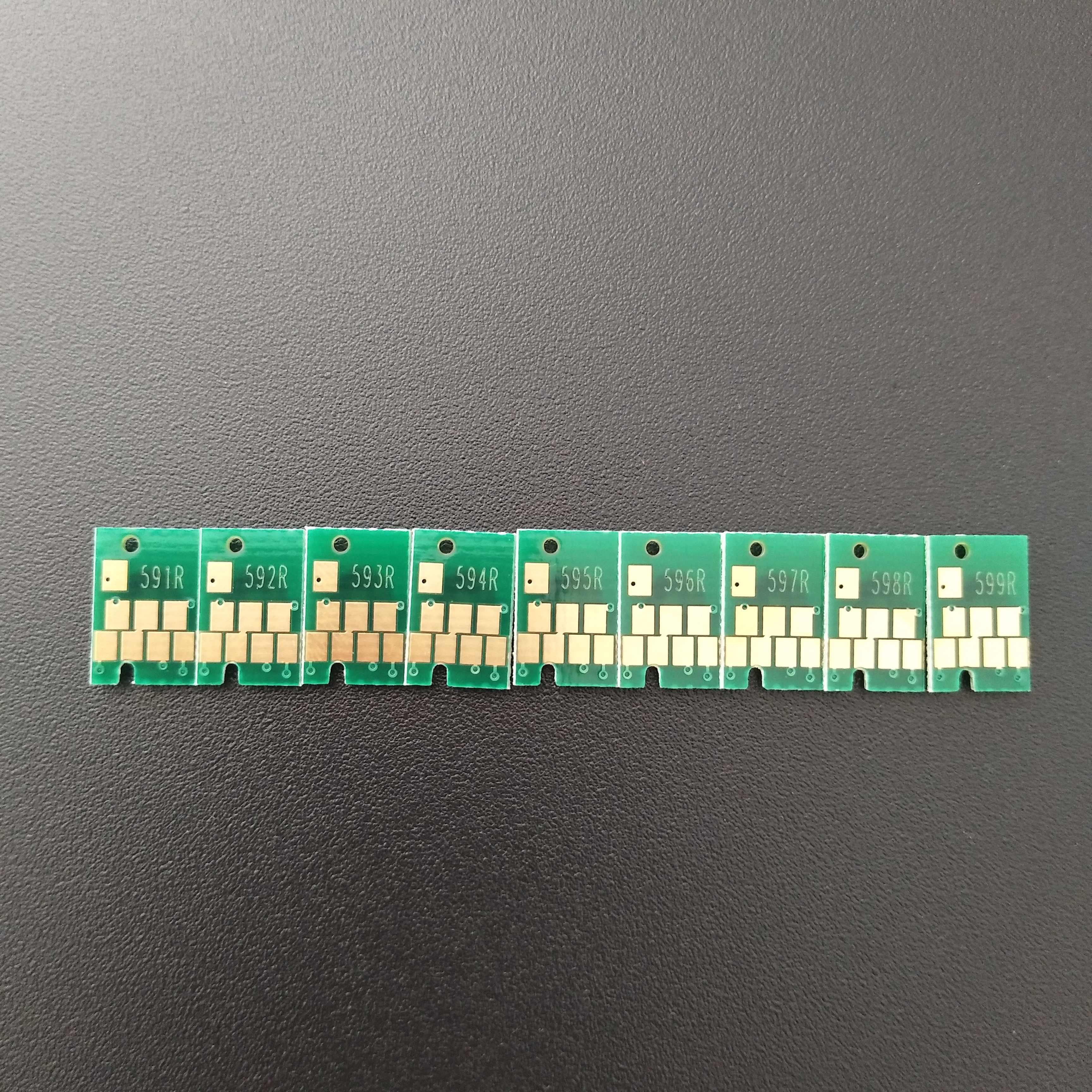 Ximo T0591-T0599 Arc Chip untuk Epson R2400 2400 Printer Digunakan untuk CISS dan Isi Ulang Ink Cartridge