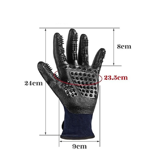 1 Pair Grooming Glove for Cats Soft Rubber Pet Hair Remover Dog Horse Cat Shedding Bathing Massage Brush Clean Comb for Animals 5