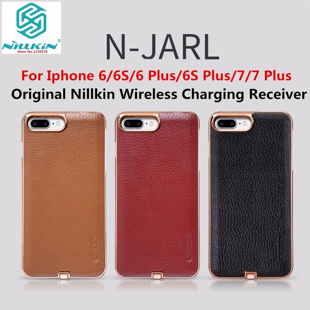 imágenes para Original de nillkin de lujo pu de cuero galvanoplastia qi receptor de carga inalámbrica case cover para iphone 6 6 s 6 s plus 7 7 Plus