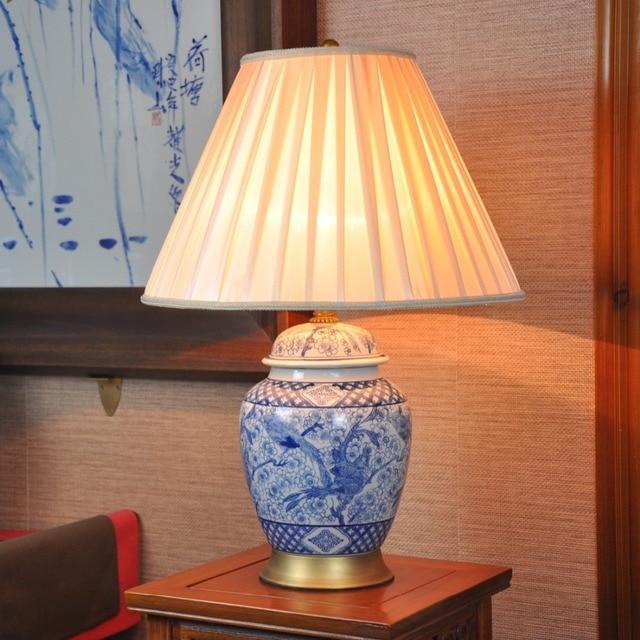 Lovely Chinesische Schlafzimmer Kunst #14: Kunst Chinesische Porzellan Keramik Tischlampe Schlafzimmer Wohnzimmer  Hochzeit Tischlampe Jingdezhen Schmetterling Nachttischlampe