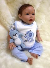 18-inch 47-inch silicone babe reborn doll, lifelike baby-born baby and vinyl silicone, children's toys christmas gift
