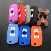 ZAD-funda de cobertura de mando a distancia de silicona para coche, carcasa de piel para BMW F10, F20, F30, Z4, X1, X3, X4, M1, M2, M3, E90, 1, 2, 3, 5, 7 SERIES, mando a distancia sin llave