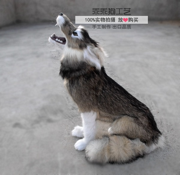simulation cute squatting wolf 35x18x45cm model polyethylene&furs wolf model home decoration props ,model gift d863 simulation cute sleeping cat 25x21cm model polyethylene