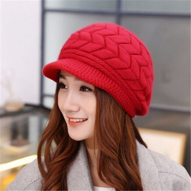 b3e85401ccb Dropwow Trendy Auturn Winter Hats Caps Cute Rabbit Fur Visors For ...