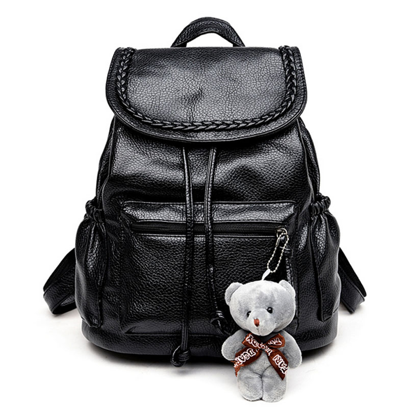 2017 New Ladies Backpack Bag student bag Korean Fashion Travel Backpack PU bags