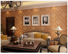 beibehang papier peint papel de parede European Damascus 3D embossed nonwoven vintage wallpaper hudas beauty behang tapety