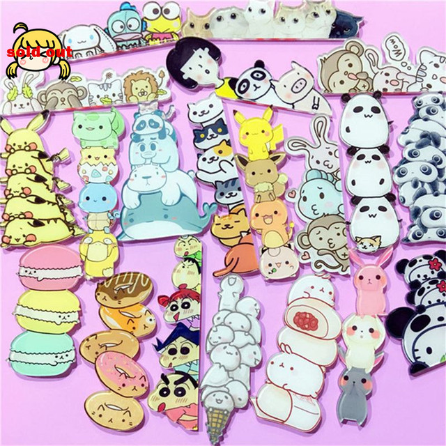 1 Pcs Del Fumetto Bello di Accatastati Animale Pikachu Panda Scimmia Acrilico Spilla Vestiti Distintivo Zaino Sciarpa Icona Spille Spilli