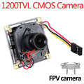 HD ir-cut 1200TVL CMOS FPV Camera 3.6mm lens mini Aerial Camera board camera with cable connection to plane  security camera