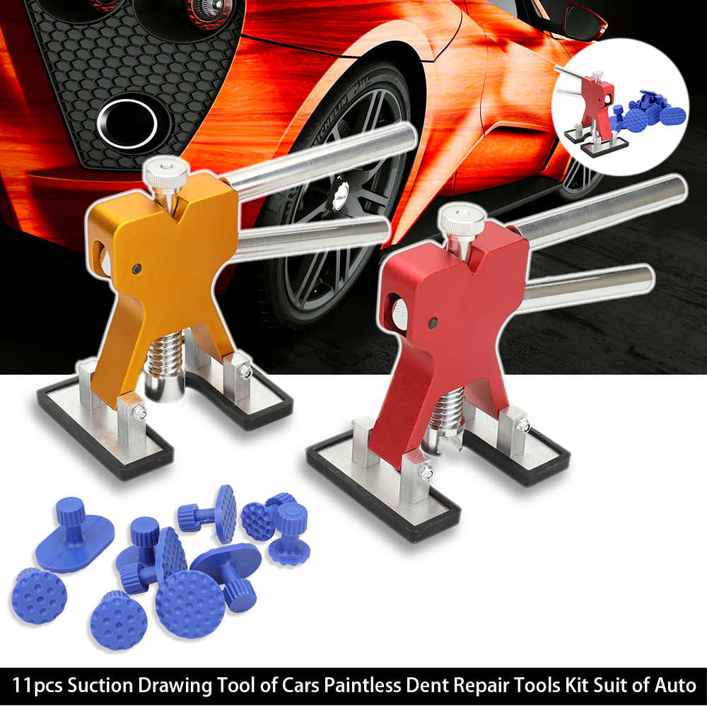 Car Auto Care 11pcs Suction Drawing Tool of Cars Paintless Dent Repair Tools Kit Suit of Auto