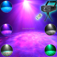 ESHINY Mini RGBW LED 7 Colors Remote Watermark Atmosphere Lights Club Bar Coffee Shop Dance Disco