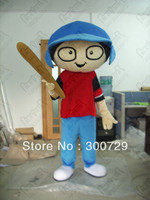 hot sale boy mascot costumes character person onesies for adults baseball boy costumes