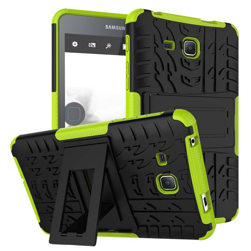 Pour Samsung Galaxy Tab Un 7.0 2016 T280 T285 Difficile Impact Case Heavy Duty Armure Hybride Anti-frapper Silicon Dur Retour couverture