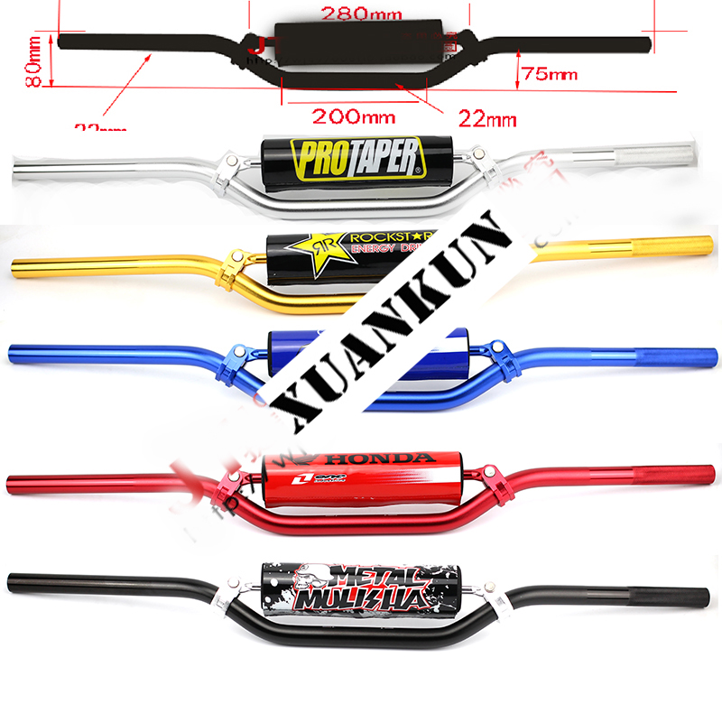 XUANKUN Off-Road Motorcycle Parts Modified 7 Series Aluminum Alloy High Strength 22MM Handlebar Direction To стоимость