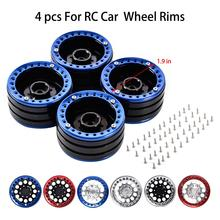4PCS 6 Colors 1/10 Simulated Climbing Car 1.9 Inch Metal Lock Tire Wheel Weighted Wheel Aluminum Alloy 1.9 Beadlock Wheels Rims
