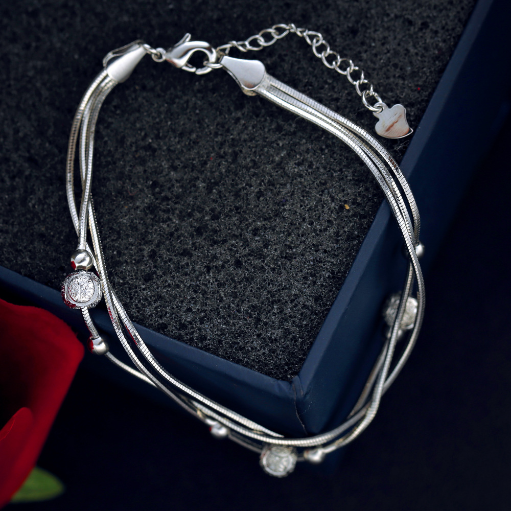 TJP Fashion Silver 925 Bracelets For Women Birhtdays Gift New Top Quality Frosted beads Female Bangles Accessories Lady Girl in Charm Bracelets from Jewelry Accessories