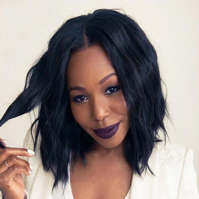 Buy 180 Human Hair Bob Wigs For Black