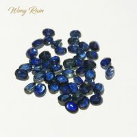 Wong Rain Top Quality 1 PCS Natural 3.5 * 4.5 MM Oval Sapphire Loose Gemstone DIY Stones Decoration Jewelry Wholesale Lots Bulk