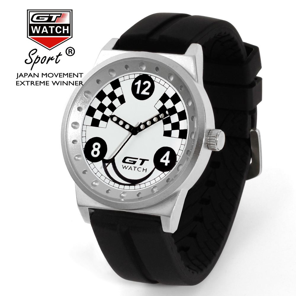 10pcs/lot wholesales Hot Sales 6colors Fashion Racing Sports Watch Brand GT WATCH High Quality Men Gifts Silicone Wristwatch ...