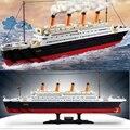 Большой Размер Титаник Корабль 3D Модель Building Blocks Игрушка Титаник Лодка Обучающие Игрушка в Подарок для Детей 0577