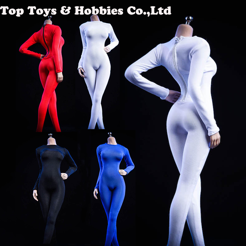 1/6 <font><b>sexy</b></font> black/red/white/blue 19XG37 Tights Bodysuit Clothing 4 colors For 12
