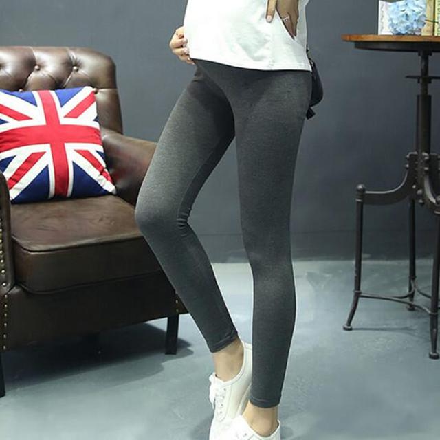 2016 Outono Nova Moda Confortável Barriga Cuidados de Maternidade Leggings Leggings Roupas para Mulheres Grávidas Gravida Plus Size 5 Cores