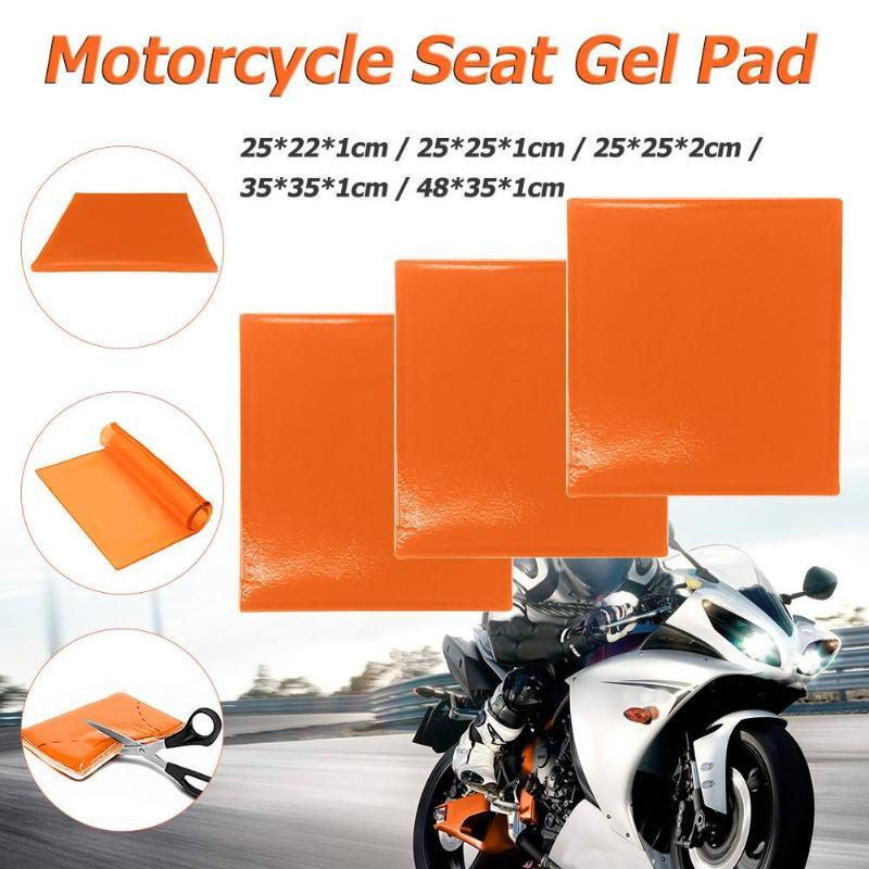 5 tamanhos Almofada Do Assento Da Motocicleta Almofada de Gel Macio E Confortável Absorção de Choque Mat Azul Modificado Almofada Do Assento Confortável Tapete Quente