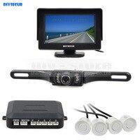 DIYKIT Video Parking Sensor 4 3 Inch Rear View Car Monitor Kit Parking Radar IR Night