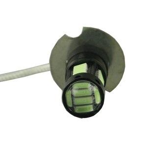 Image 3 - 2 uds blanco 30 SMD 4014 H3 bombillas LED de repuesto para luces antiniebla de coche, luces de circulación diurna, lámparas DRL azul hielo amarillo