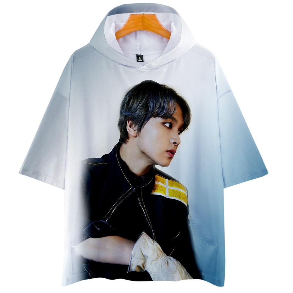 NCT 127 We Are Super Human 3D Печатные Футболки с капюшоном для женщин/мужчин Kpop летняя футболка 2019 горячая распродажа Повседневная Уличная одежда