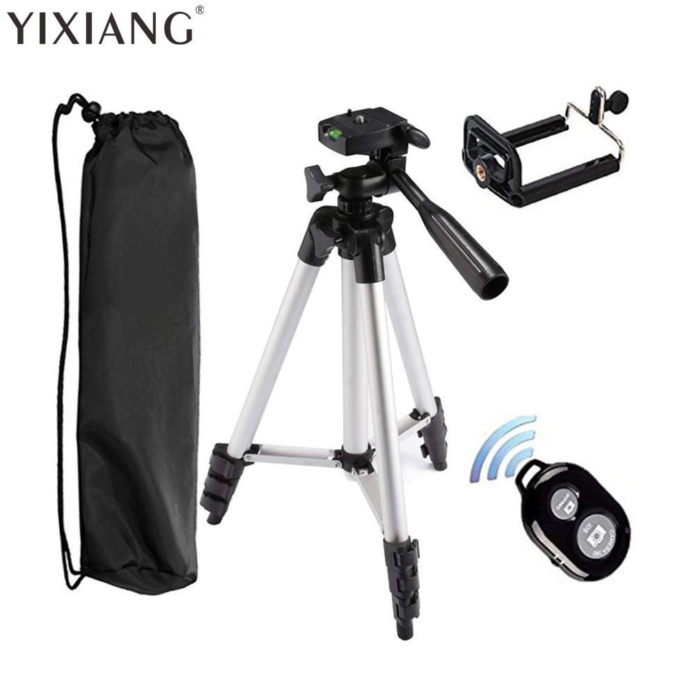 YIXIANG Tripod + clip + Bluetooth shutter for iPhone 7 8 X plus 6s 6 6 Plus 5s 5 for Samsung Galaxy S6 S6 Edge S5 S4 etc pc material protective water resistance phone pouch for iphone 6 6 plus 6s samsung note 5 s6 edge plus etc