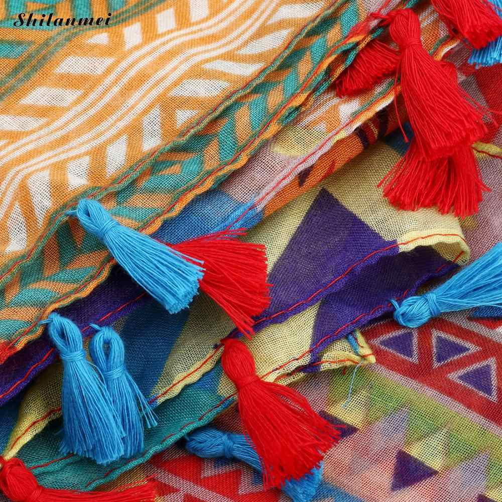 Разноцветное кимоно с цветочным принтом Mujer 2019 bluse Feminino Летний Пляжный длинный кардиган Женская винтажная блуза Boho Топ кимоно Женская рубашка