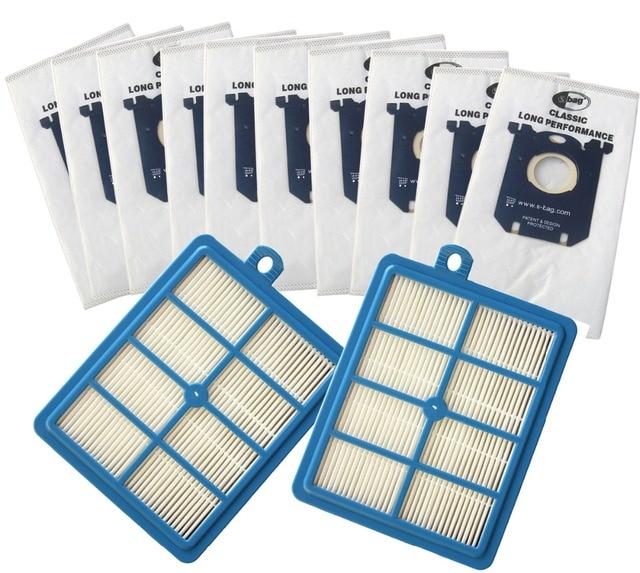 10x Stofzuiger Stofzakken S Bag En 2x H12 Hepa Filter Fit Voor Philips Electrolux Cleaner Gratis Verzending