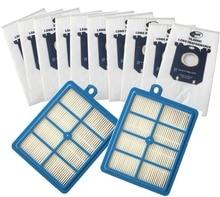 10x ואקום שואב אבק שקיות s שקית 2x H12 Hepa מסנן fit עבור פיליפס Electrolux מנקה משלוח חינם