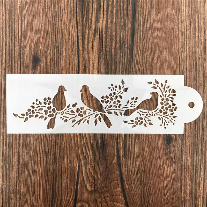 Animali Gazza Uccello Rottami di Pareti Stencil Airbrush Pittura Decor Stencil per il Fai Da Te Scrapbooking Arte Ablum Diario Timbro Artigianato