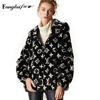 Fang Tai Fur 2019 Женская импортная Корона норковая шуба с мехом Капор из норки пальто с принтом Lettern женские короткие потери настоящие норковые шу