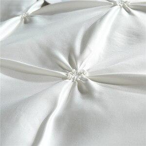 Image 5 - LOVINSUNSHINE ensembles de literie de luxe avec housse de couette et fleurs en soie, pour taille King Size, couleurs unies, AB #4