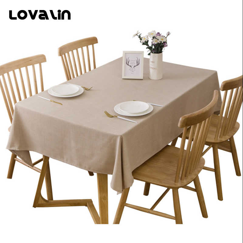 Strange Lovalin Simplicity Solid Color Tablecloth Rectangular Round Linen Lace Fabric Table Cloth Home Kitchen Decor Hotel Table Cover Download Free Architecture Designs Scobabritishbridgeorg
