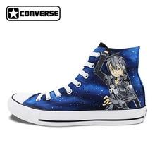Дизайн кроссовки Для мужчин Для женщин Converse All Star САО меч Книги по искусству-Атака на Титанов Пользовательские Ручная роспись обувь с рисунком из аниме