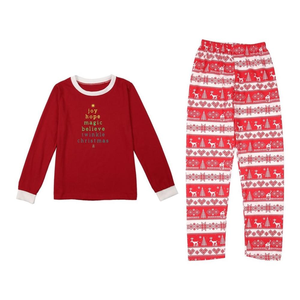 Xmas Moose Fairy Christmas Family Pajamas Set Adult Kids Sleepwear Nightwear Pjs Photgraphy Letter Printed Prop Clothing New