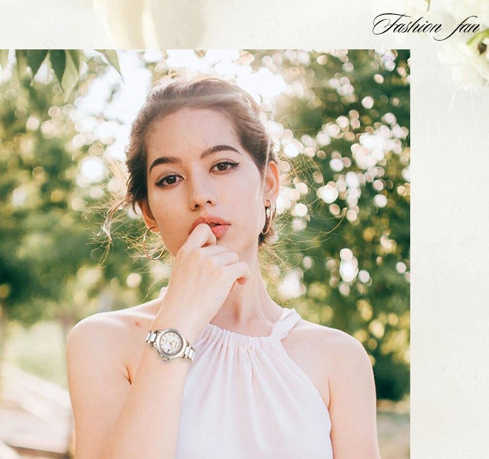senhoras pulseira relógio reloj mujer criativo relógio