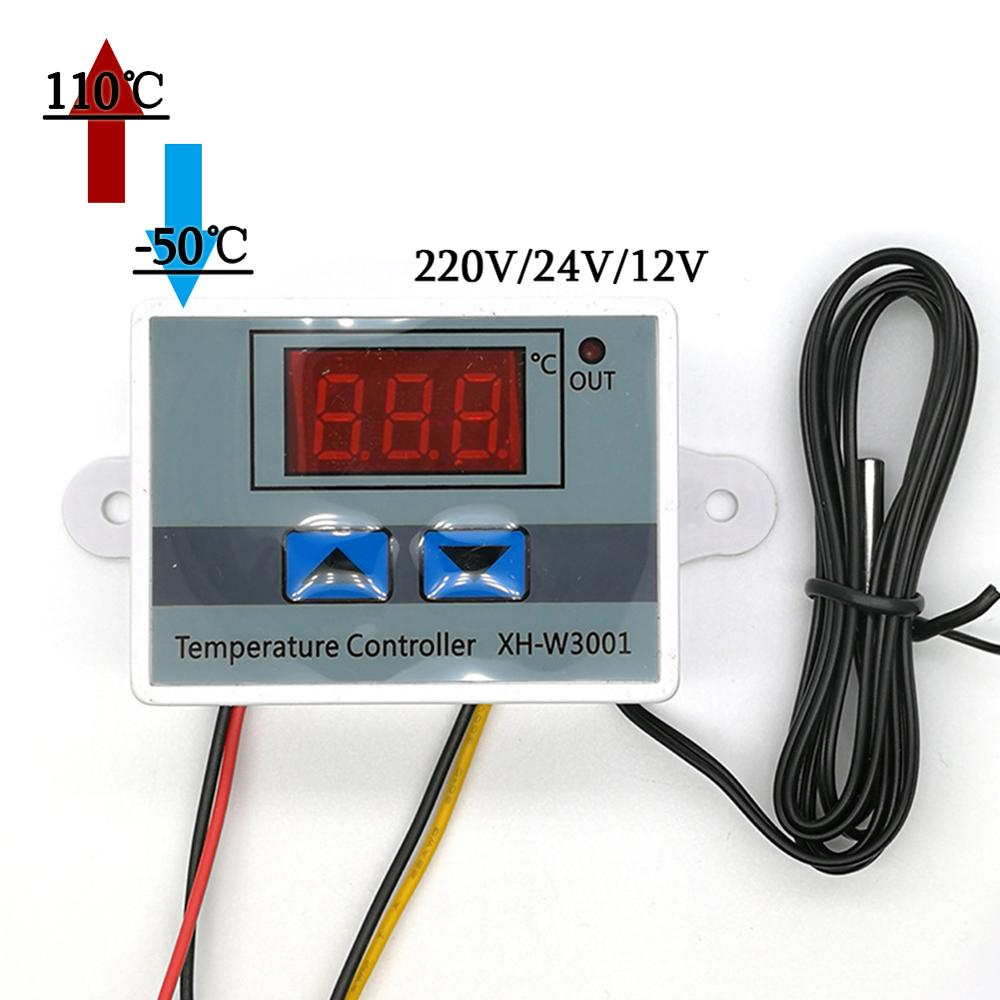 15-70C Temperature Adjustable Control Switch Relay Output 24V DC 24V Heat Cool