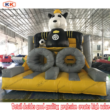 Outdoor Panda Commercial Inflatable Obstacle Course Bouncer Playground