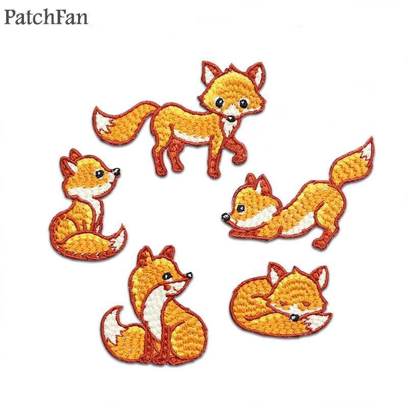 Patchfan 작은 왕자 폭스 Applique 패치 동물 스티커 diy 바느질 저지 의류 파라 재킷 배지 아이언 티셔츠 a0858에