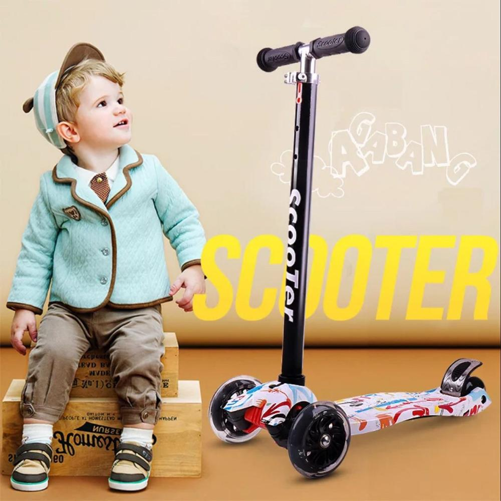 Baby Stroller Kids Foot Scooters with Adjustable Flashy Wheel Children pedal scooter tricycle scooters For Over Three Years Old cute baby swing car walker without foot pedal scooters toddler stroller kids toy birthday gift