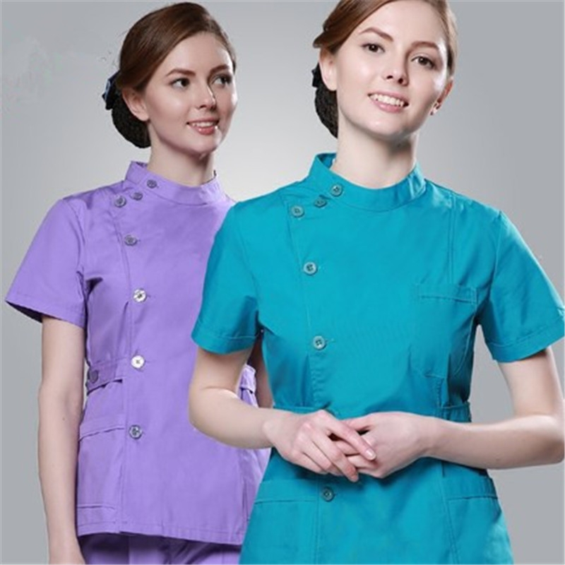 Diligent 2017 New Womens Long Sleeve Medical Scrub Sets Hospital Doctors Uniforms Dental Pet Clinic Beauty Salon Workwear V-neck Gowns The Latest Fashion Work Wear & Uniforms Medical