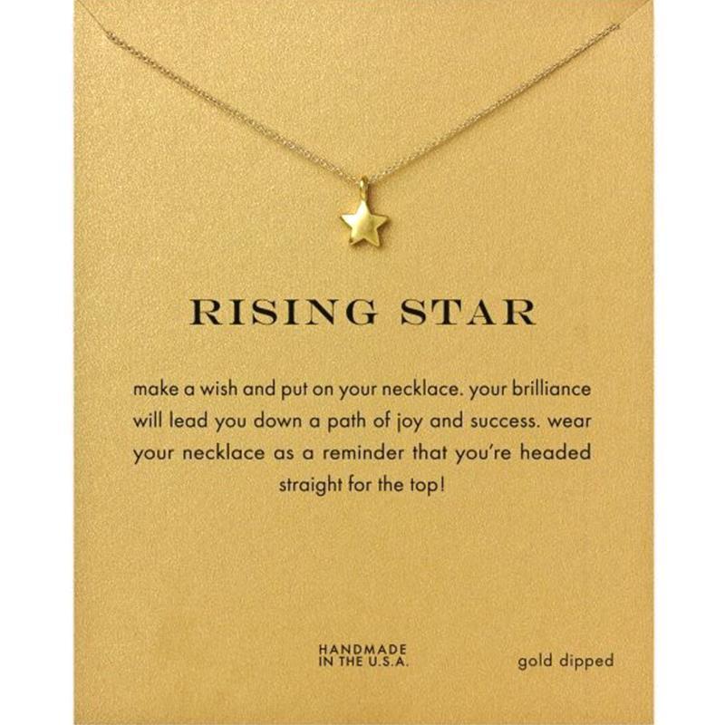 Moon Dogeared Shiny Finish Alloy Rising Star Drop Shorts Chains ...