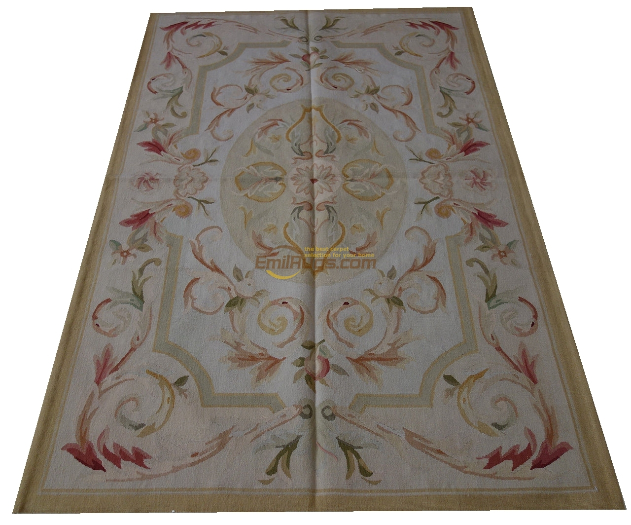 Xpa6007b FPASTEL ANTIQUE couleur claire Aubusson tapis de sol français Shabby Chic gc8aubyg13