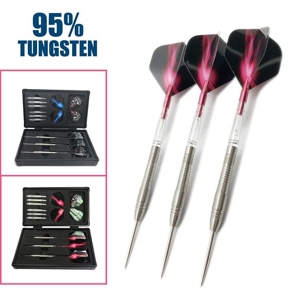 CAVALIER DARTS Free Shipping 21 Grams 95% Tungsten Steel Tip Darts Needle Darts With High Quality Darts Shaft 3pcs/set