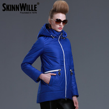 SKINNWILLE2016 New Spring Warm women Cotton coat padded Coat Women's Clothing Three Quarter Sleeve Coat Jacket Windbreaker