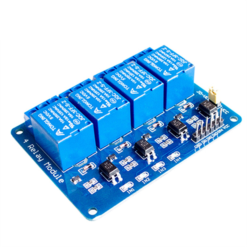 4 channel relay module Microcontroller development board relay expansion board 5v support AVR/51/PIC channel relay module new summer vintage women ripped hole jeans high waist floral embroidery loose fashion ankle length women denim jeans harem pants page 7